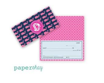 Checkbook Cover, PINEAPPLES, Monogrammed Checkbook Cover, Personalized Checkbook Cover, Custom Checkbook Cover, Vinyl Checkbook Cover