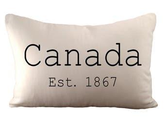 Canada - Est 1867 Cushion Cover - 12x18