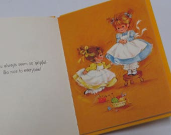 Adorable Vtg 70's Hallmark Mini Gift Book ~ Thoughtfulness Library ~ Thanks For Being You