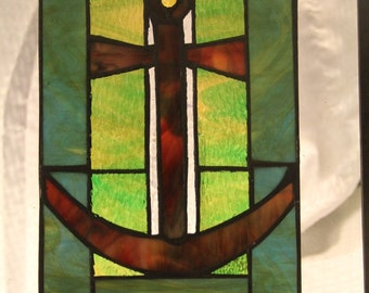 Stained Glass Anchor. Hope Anchor, Rhode Island