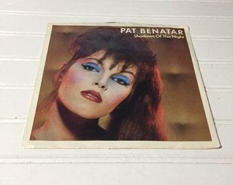 Pat Benatar 45 record vintage 80s shadows of the night
