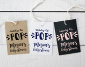 Baby Shower Tags - Ready to Pop Design - Baby Favor Tags | Custom Favor Tags | Personalized Favor Tags | Favor Hang Tags - Set of 18