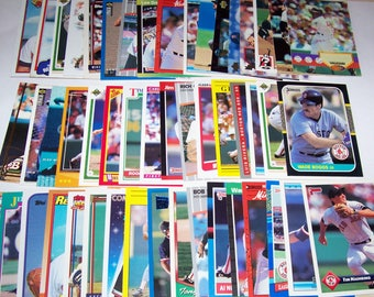 50 Assorted Vintage Boston Red Sox Cards