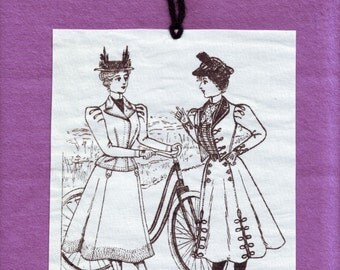Victorian Bicyclists Wall Hanging