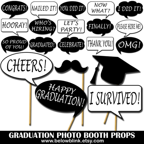 Tactueux image in free printable graduation photo booth props
