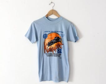 SALE vintage Mustang t-shirt, 1981 Kingsport car show tee