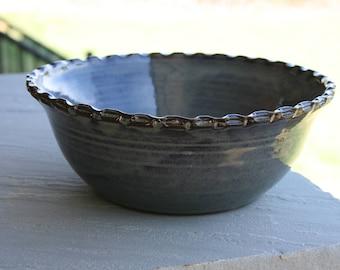 Pottery Bowl Green Glaze NC Pottery Serving Bowl