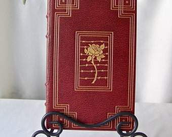 Vintage A Farewell To Arms Hemingway Franklin Library 1975 Full Leather Bound 22k Gold Accents 100 Greatest Books Collection