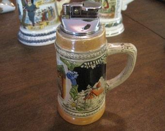 Gerz German Beer Stein Table Ligher