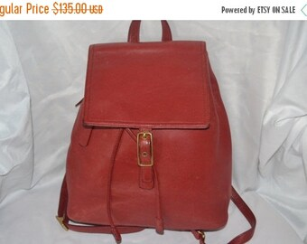 Savings For You COACH Bag ~Coach~Coach Backpack~RED Coach ~Leather Bag-Excellent Condition-Authentic
