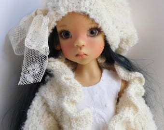 279. French and english knitting pattern PDF - Jacket and beret for Layla, MSD Kaye Wiggs doll