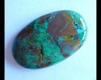 Natural chrysocolla Gemstone Cabochon,54x33x8mm,24.2g(d0570)