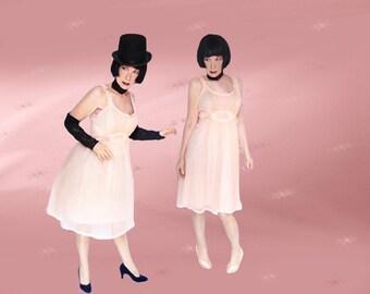 1950s Nightgown - Kawaii Cupcake Dress - 50s Vintage Babydoll Dress - MINT Condition