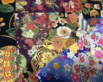 Beautiful Kimono design printed fabric 4 FQ size sets Special offer only 2set