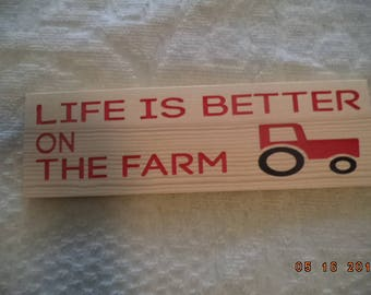 country sign, sign, life is better on the farm, engraved sign, tractor, farm sign, wooden sign