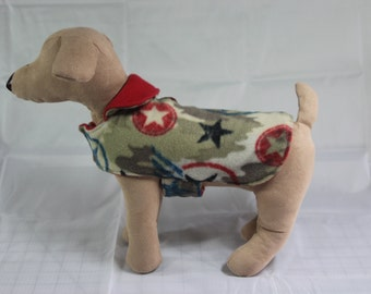 XXSmall Fleece Military Pet Coat