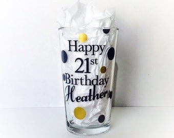 Pint Glass Personalized, Birthday Gift