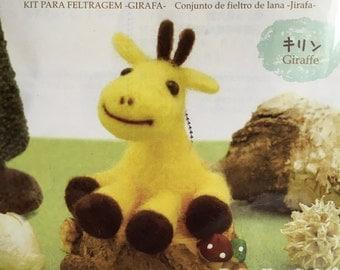 Japanese Animal Craft Kit of Wool Felt - Giraffe