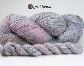 Hand Dyed Alpaca Yarn Worsted Weight 100% Alpaca Pastal Skies