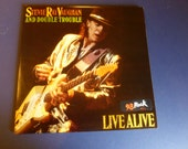 Stevie Ray Vaughan And Double Trouble Live Alive Vinyl Record E2 40511 Epic Stereo  Double Promo Copy 1986 CBS Rare
