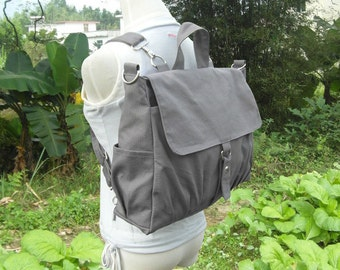 Canvas backpack, canvas rucksack, canvas bag, travel bag, school bag, diaper bag, bags for women