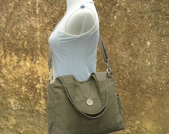 March Sale 10% off Olive canvas fabric messenger bag, womens tote bag, hand bag, market  bags wholesale