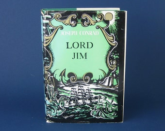 Lord Jim by Joseph Conrad- novel - hardcover vintage book -1920 Book club edition