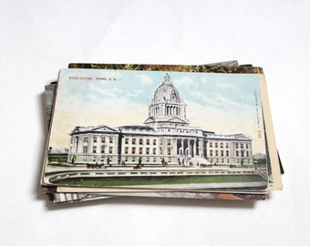 SALE - 29 Vintage South Dakota Postcards - DAMAGED
