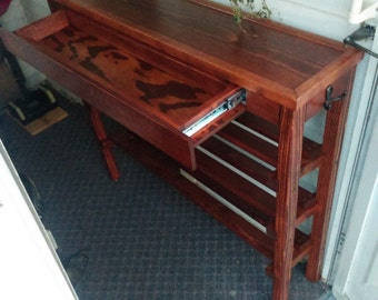 Shoe Rack Table with Drawer