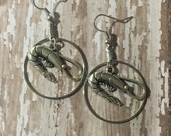 Shrimp dangle earrings