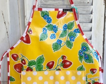Child's Apron- Yellow Strawberry