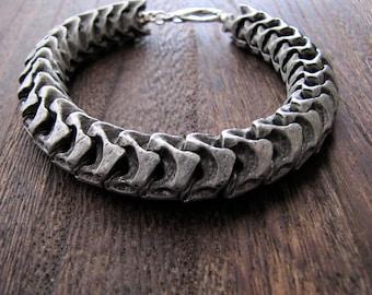 Men's Bracelet, Mans Bracelet, Bones, Skeleton, Spine, Spinal, Energy Healing, Heavymetal, Goth, Gothic, Vampire