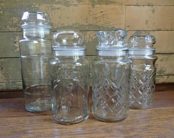 Planter's Peanuts Jars Set of 4 – 1978, 1981, 1983, 1984 / Instant Collection Planter's Peanut Jars / Collectible Advertising Jars