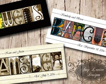 Custom Name Alphabet Photography Name Print 10 X 20 Unframed