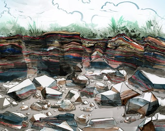 Art print: Eroded asphalt