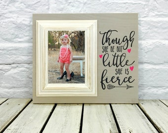 Though She Be But Little She is Fierce, Nursery Decor, Shakespeare Quote, Baby Girl Gift, Baby Frame, Daughter, Granddaughter,