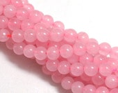 ON SALE Rose Quartz (dyed), 6mm round bead, you pick 8 beads, 16 beads, half strand, or full 16 inch strand