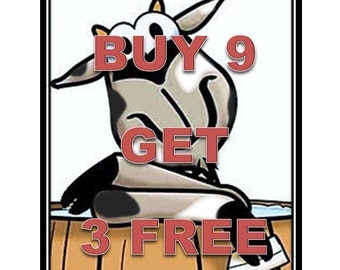 3.75 DOLLAR BARS-Buy 12 and SAVE-goat milk soap-bath/shower bars by Happy Goat