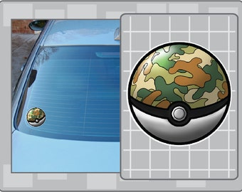 SAFARI BALL No. 1 from Pokemon Vinyl Decal Anime Pokeball Sticker for Almost Anything!