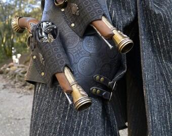 Pirates Dual Pistol Leather Leg Brace