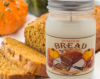 16 ounce Pumpkin Bread Jar Candle