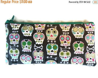 Skulls Pencil Case/cosmetic pouch