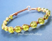 End Of Year Sale Peas In A Pod Bracelet, Green Peas In A Pod Bangle Bracelet
