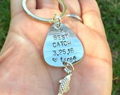 Fishing Keychain, Fishing, Boyfriend Gift, Fishing Lure, Personalized Fishing Lure, Me Best Catch,Natashaaloha