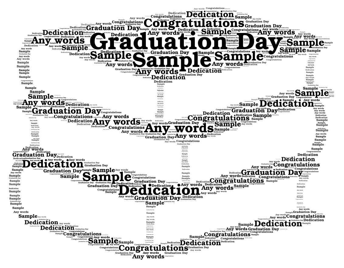 Graduation Personalised Word Art Print Only Graduation Gift  |Word Art For Graduation