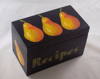 Recipe Box -- Pear Design