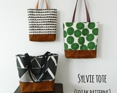 Sylvie Tote, pdf bag pattern, pdf pattern, tote bag, instant download, three sizes, easy to sew, sewing, chic, patterns, sew, bag,