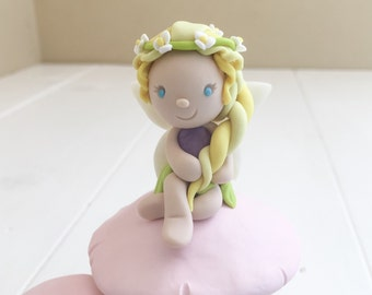 Personalized - Custom Made Clay Fairy Cake Topper