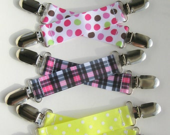 Girls MITTEN CLIPS for Children - Toddler Mitten Clips- Girls Mitt Clips for Kids- Glove Clips for Kids- Sleeve Clip- Birthday Gift For Kids