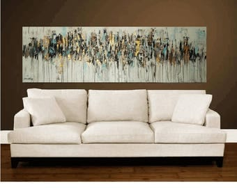 """painting creme,brown, painting , 70"""" ,abstract painting ,large painting by Jolina Anthony"""